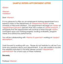 Sample Internship Offer Appointment Letters 7 Templates