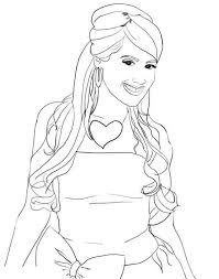 Small Picture Stunning Ashley Tisdale in High School Musical Coloring Page