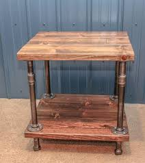 industrial wood furniture. industrial wood and pipe end tablerustic by bcindustrialtreasure furniture h