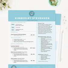Crisp Blue Dental Resume Cover Letter References Template