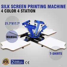 screen printing machine silk screen printing machine screen printing press 4 station double spring t shirt press diy cap and t shirts multi color screen