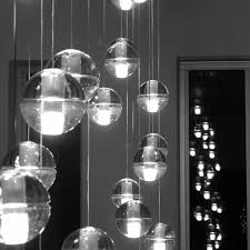 black white image of the 14 series by bocci 14 series chandelier