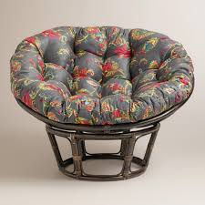 Papasan Chair In Living Room Antigua Micro Suede Papasan Chair Cushion World Market