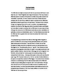 the great gatsby essay a level english marked by teachers com  modern · f scott fitzgerald page 1 zoom in