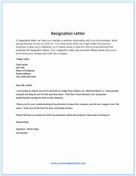 Sample Professional Resignation Letter Sample Resignation Letters Nursing Elegant Professional Resignation