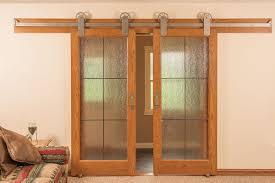 neuenschwander red oak 6 lite leaded rain glass interior doors