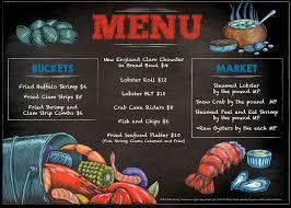 Seafood Shack Menu
