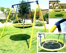 outdoor childrens swing sets toddler set with trampoline and slide playground backyard kids