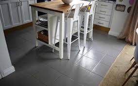 painting kitchen tile floor
