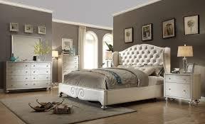 tufted upholstered bed. Pearl White Tufted Wing Back Bed Faux Croc Bedroom Furniture Set Upholstered C