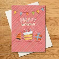 Happy Birthday Cake Greeting Card Escape Adulthood Lemonade Stand
