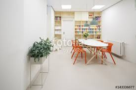 modern doctors office. interior of a waiting room modern doctors office l