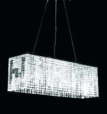 modern rectangular crystal chandelier linear diy chandelie