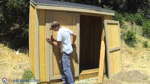 How To Build A Lean To Shed - Part 8 - Double Door Build - YouTube