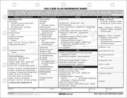 Refference Sheet Cna Care Plan Reference Sheet