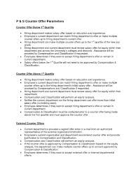 How To Write A Counter Offer Letter For A Job Fresh Sample Counter ...
