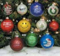 Our stock glass ball Christmas tree ornaments allow you to put your custom  imprint on the
