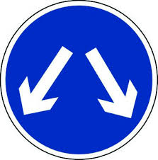 Pass Either Side Fig 611 600mm Class 1 Reflective Traffic Sign