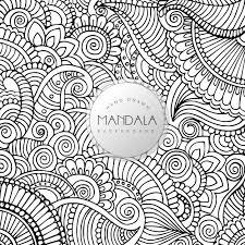 Disegno A Mano In Bianco E Nero Floral Mandala Pattern Background