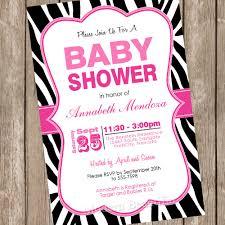 Zebra Baby Shower Invitation  Hot Pink Zebra Invitation  Hot Pink Zebra Baby Shower Invitations