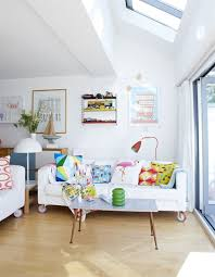 bright colorful home. White Living Room With Colorful Accessories Bright Home X