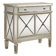 mirrored furniture. image of powell mirrored 1-drawer 2-door console furniture o