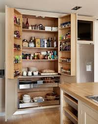 black and white kitchen pantry bespoke cabinetry with build in storage