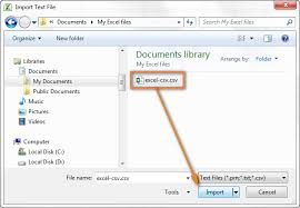 double the csv file to run the text import wizard