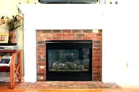 brick fireplace mantel decor red
