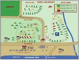 mabel lake resort site map