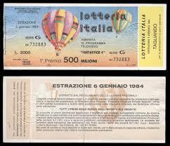 Dettagli su biglietto lotteria ITALIA 1984