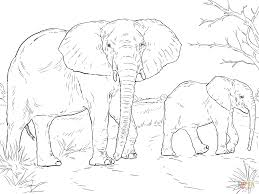 Small Picture African Elephant Mother And Baby coloring page Free Printable
