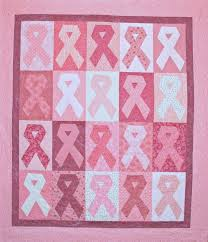 pink ribbon quilt can be any awareness color! | Sewing | Pinterest ... & Breast Cancer Quilt -- so pretty! Adamdwight.com