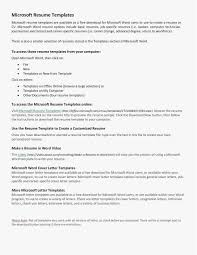 Resume Template Microsoft Word Free Curriculum Vitae And Cv