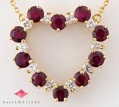 tiffany centimeter men tal heart ruby diamond 18 karat gold yellow gold pendant necklace 2200000275547