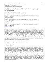 PDF) A Path Computation algorithm in MPLS Traffic Engineering for ...