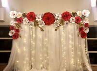 Paper Flower Backdrop Rental Paper Flowers