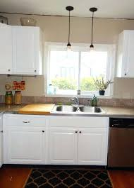 6 pendant lighting above kitchen sink