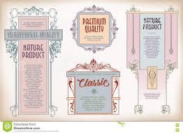 Classic Sticker Design Vintage Frame Design For Labels Banner Sticker And Other