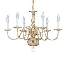 livex lighting williamsburg 24 in 6 light polished brass candle chandelier