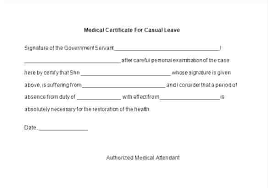 Example Sick Leave Form Template Australia Of Medical Certificate ...