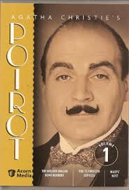 three poirot mysteries starting with the million dollar bond robbery an excellent episode with great newsreel fooe of the queen mary upon which some