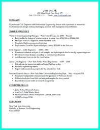 There Are So Many Civil Engineering Resume Samples You Can Civil