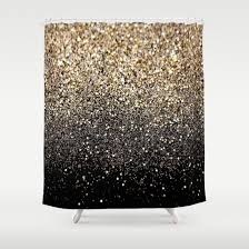 cream and black shower curtain. buy shower curtains featuring black \u0026 gold sparkle by luxe glam decor. made from 100 cream and curtain u