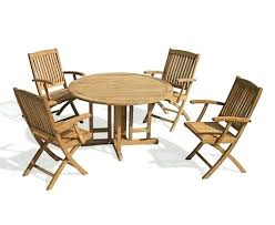 drop leaf outdoor patio table dining applaro brown stained round garden and arm chairs kitchen enchanting