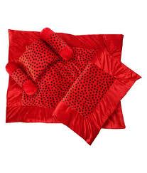 silver stone soft velvet baby bed set red