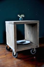 reclaimed wood furniture plans. reclaimed wood bedside side table industrial rustic modern furniture scaffold upcycled end plans