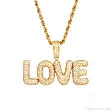 whole a z custom name s size bubble letters pendant with 24 rope chain iced out chain hip hop jewelry women men necklaces turquoise necklace long