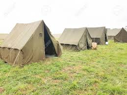 The Army Military Camp, Nobody, Anywhere In The World Stock Photo, Picture  And Royalty Free Image. Image 86363881.