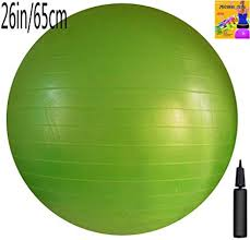Exercise Ball Size Chart Amazon Com Appleround Fitness Ball Green 26in 65cm